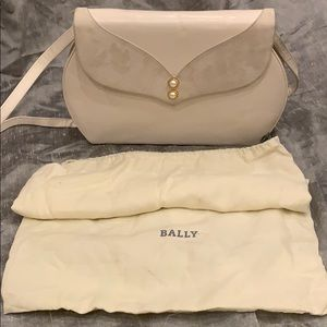 Bally leather and suede cream purse